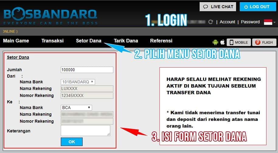 Form Setor Dana PKV Games