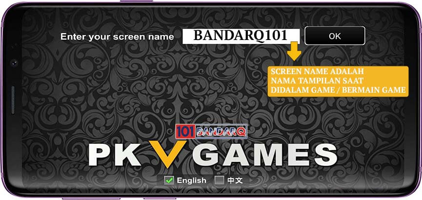 Screen Name BandarQ PKV Games